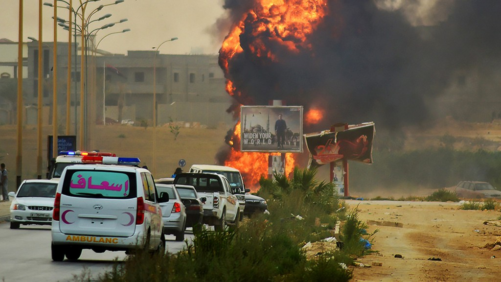 Fighting flares in Benghazi